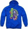 The Joker youth teen hoodie Raw Deal royal blue