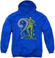 DC Comics youth teen hoodie The Riddler royal blue