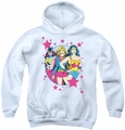 DC Comics youth teen hoodie We Are Superior white