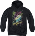 DC Comics youth teen hoodie Wonder Woman Color Block black
