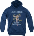 DC Comics youth teen hoodie Wonder Woman Get Some navy
