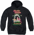 DC Comics youth teen hoodie Wonder Woman Jaws black