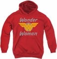 DC Comics youth teen hoodie Wonder Woman Wings red
