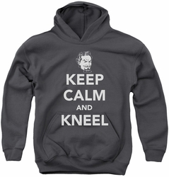DC Comics youth teen hoodie Zod Keep Calm And Kneel charcoal