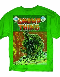 Dc Heroes Swamp Thing Cover Px Green T-Shirt