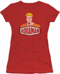 DC Originals juniors t-shirt Aquaman Sign red