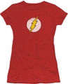 DC Originals juniors t-shirt Rough Flash Logo red