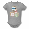 Dc snapsuit Baby Block heather