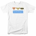 DC Superheros t-shirt Hashtag Jla mens white