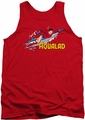 DC Universe tank top Aqualad mens red