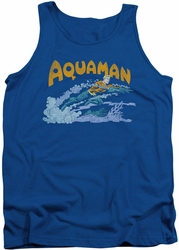 DC Universe tank top Aquaman Aqua Swim mens royal