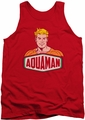 DC Universe tank top Aquaman Sign mens red