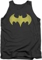 DC Universe tank top Batgirl Logo Distressed mens charcoal