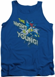 DC Universe tank top Batgirl The Night Is Young mens royal