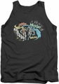 DC Universe tank top Batman Action Duo mens charcoal