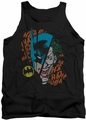 DC Universe tank top Batman and Joker Broken Visage mens black