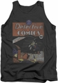 DC Universe tank top Batman Detective #27 Distressed mens charcoal