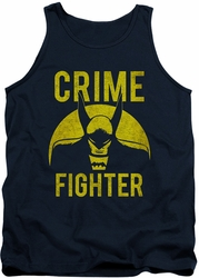 DC Universe tank top Batman Fight Crime mens navy