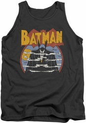 DC Universe tank top Batman Foggy mens charcoal