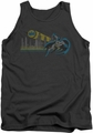 DC Universe tank top Batman Gotham Retro mens charcoal