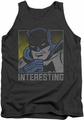 DC Universe tank top Batman Interesting mens charcoal