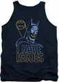 DC Universe tank top Batman Issues mens navy