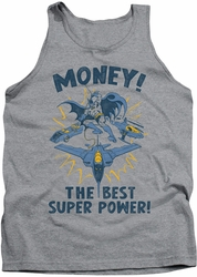 DC Universe tank top Batman Money mens heather