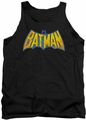 DC Universe tank top Batman Neon Distress Logo mens black