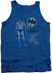 DC Universe tank top Batman Night Life mens royal
