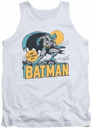 DC Universe tank top Batman Night Off mens white
