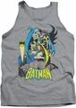 DC Universe tank top Batman Robin Batgirl Heroic Trio mens heather