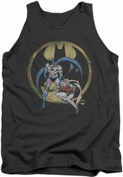 DC Universe tank top Batman & Robin Team mens charcoal