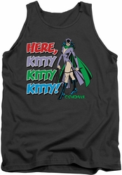 DC Universe tank top Catwoman Here Kitty mens charcoal