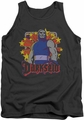 DC Universe tank top Darkseid Stars mens charcoal