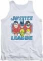 DC Universe tank top DC Comics Faces Of Justice mens white