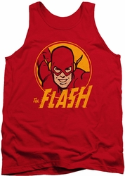 DC Universe tank top Flash Circle mens red