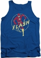 DC Universe tank top Flash Comics mens royal blue