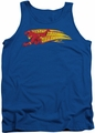 DC Universe tank top Flash Fastest Man Alive mens royal