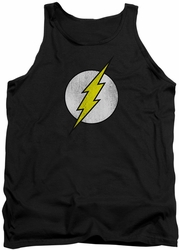 DC Universe tank top Flash Logo Distressed mens black