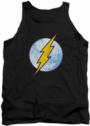 DC Universe tank top Flash Neon Distress Logo mens black