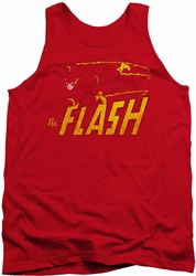DC Universe tank top Flash Speed Distressed mens red
