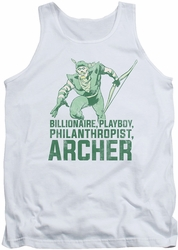 DC Universe tank top Green Arrow Archer mens white