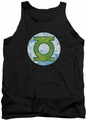 DC Universe tank top Green Lantern Neon Distress Logo mens black