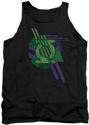 DC Universe tank top Green Lantern Shapes mens black