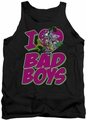 DC Universe tank top I Heart Bad Boys mens black