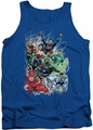 DC Universe tank top Justice League #1 mens royal