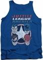 DC Universe tank top Justice League 4 Stars mens royal
