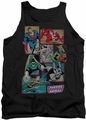DC Universe tank top Justice League Boxes mens black