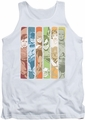 DC Universe tank top Justice League Columns mens white