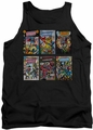 DC Universe tank top Justice League Covers mens black